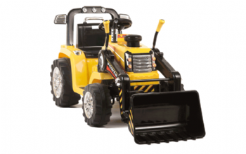 Yellow R/C Twin Motor Tractor - 12V Kids' Electric Ride On Tractor